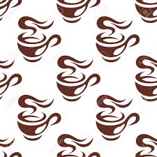 espresso coffee clipart steaming cup of espresso coffee seamless pattern with a brown