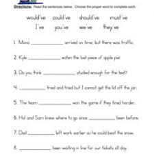 contractions have worksheet