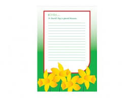 st david u0027s day lined writing paper template daffodils ichild