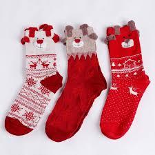 christmas socks 1 pair new winter warm christmas socks deer elk gift kawaii