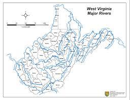 West Virginia rivers images Map of west virginia rivers virginia map jpg