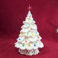 detailed ready to paint small ceramic spruce tree with tree
