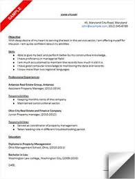 Sample Resume For Property Manager by 100 Original Papers Resume Property Manager Sample