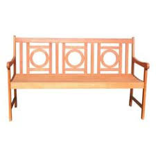 Eucalyptus Bench - bradley 5 foot outdoor wood garden bench by vifah gardens
