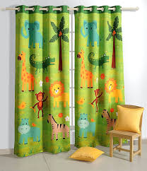 Jungle Curtains For Nursery Safari Blackout Door Curtains For Rooms Set
