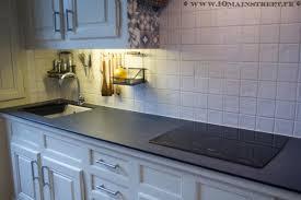 restaurer plan de travail cuisine plan de travail compact et évier ikea domsjö 1 an après