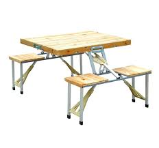 wooden folding table walmart folding picnic table green aluminum portable picnic folding table