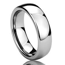 stainless steel wedding bands 6mm stainless steel mens womens rings high polished domed