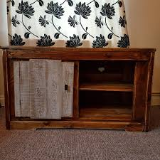 handmade rustic farmhouse country style shabby chic tv unit in