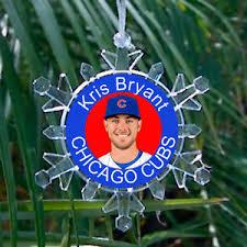 kris bryant chicago cubs snowflake blinking tree