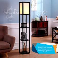 brightech maxwell shelf floor lamp modern mood lighting for