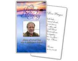 prayer cards for funerals prayer card templates memorial card template free word