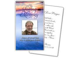 funeral prayer cards prayer card templates memorial card template free word