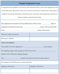 Early Termination Of Lease Letter Equipment Lease Application Template