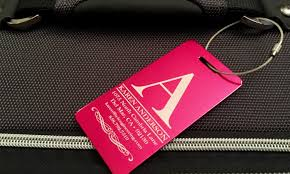 customized aluminum luggage tags qualtry groupon