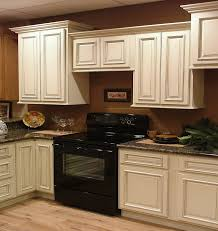 Chocolate Glaze Kitchen Cabinets Antique White Kitchen Cabinets With Granite Countertops