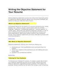 resume exles objectives statement objective statement resume resume objective exles use them on