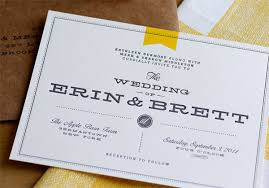 contemporary wedding invitations modern invitations rectangle landscape white yellow awesome