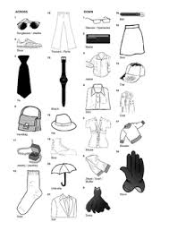 french vocabulary clothing and accessories crossword puzzle by