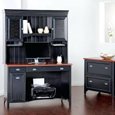 Corner Filing Cabinet Desks Corner Desk With Locking File Cabinet Varnished Oak Wood