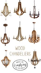Wooden Chandeliers Lighting What I M Crushing On Wood Chandeliers Chandeliers Woods And Lights