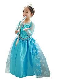 uk elsa u0026 anna girls party fancy dress snow queen princess