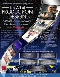 Production Designer Art Director Art Directors Guild U0026 Sdsa Present Oscar Panel With 2017