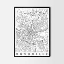 Nashville Home Decor by Nashville Gift Map Art Prints And Posters Home Decor Gifts