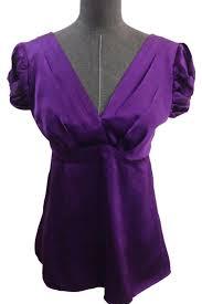 purple silk blouse nanette lepore purple puff sleeve pleated front silk blouse size 4