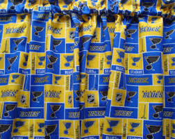 Curtains St Louis Blue Gold Curtains Etsy