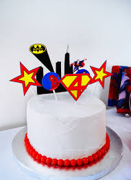 superman cake toppers easy birthday cake with printable cake toppers