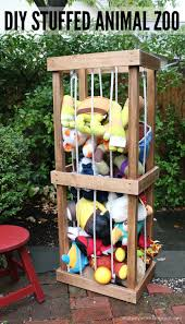 build a diy stuffed animal zoo tower free and easy diy project