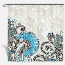 Paisley Shower Curtains Turquoise Paisley Shower Curtains Cafepress