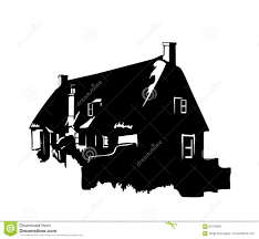 House Silhouette by Silhouette Of A Rural House Stock Vector Image 84749920
