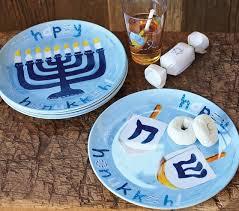hanukkah tableware hanukkah plates pottery barn kids