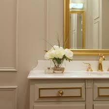 gold and white bathroom bathroom decor