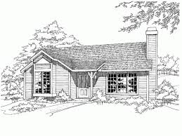 1 story 2 bed 890 square foot ready to build house plan from