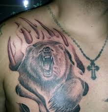 on chest