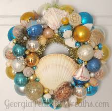18 best sea shells and shiny brites ornament wreath images on