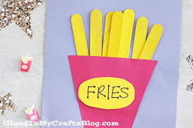 popsicle stick fries kid craft glued to my crafts
