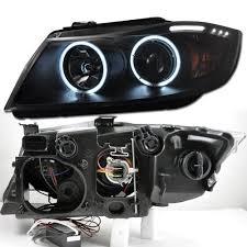 eye bmw headlights 05 08 bmw e90 3 series ccfl eye halo led projector