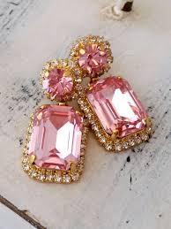 Pink Chandelier Earrings Light Pink Chandelier Earrings Drop Earrings Dangle