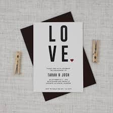 bold and modern engagement invitation be my guest
