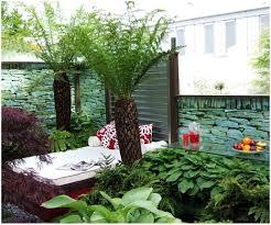 backyards compact garden design with