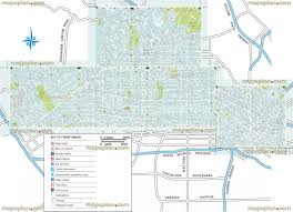 Los Angeles Street Map by Maps Update 21051488 Hollywood Tourist Attractions Map U2013 Los