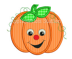 pumpkin fall smiley applique machine embroidery
