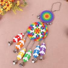 handicrafts for home decoration dream windbell puzzle kit two patterns perler beads ring crafts