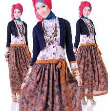 ッ 40 model baju batik remaja putri muslim lengan panjang terbaru