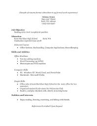 sample resume for office assistant with no experience a high