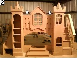 Princess Castle Bunk Bed Beds Unique Custom Theme Playhouse Beds Best Prices
